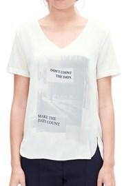 T-Shirt mit Aufdruck V1 s.Oliver