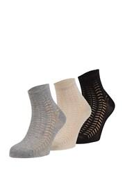 3er Pack gemusterter Socken Luisa