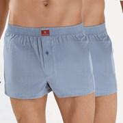 2er Pack Herrn Boxershorts BLACKSPADE Indigo 100% aus Baumwolle