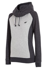 Dame Sport-Hoodie 4f Double Grey