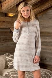 Damen Nachthemd Pompon