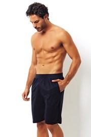 Blaue Shorts aus Baumwolle