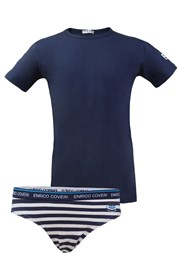 Set Slip und T-Shirt Enrico Coveri