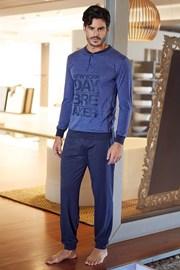 Blaues Herren-Set aus Baumwolle Pietro