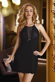 Elegantes Nachthemd Emi Black