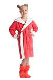 Bademantel Zuzana himbeerfarben für Mädchen
