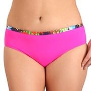 Bikini-Hose Flowers Pink höhere Taille