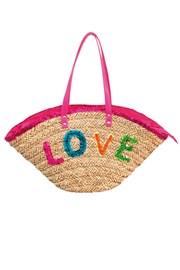 Strandtasche Funtext Love