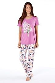 Pyjama aus Baumwolle Parrot pink