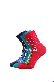 3er Pack wärmender Socken Eule