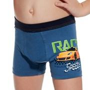 Blaue Boxershorts für Jungen Race