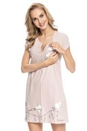 Mutterschafts-, Still-Nachthemd Tamara Beige