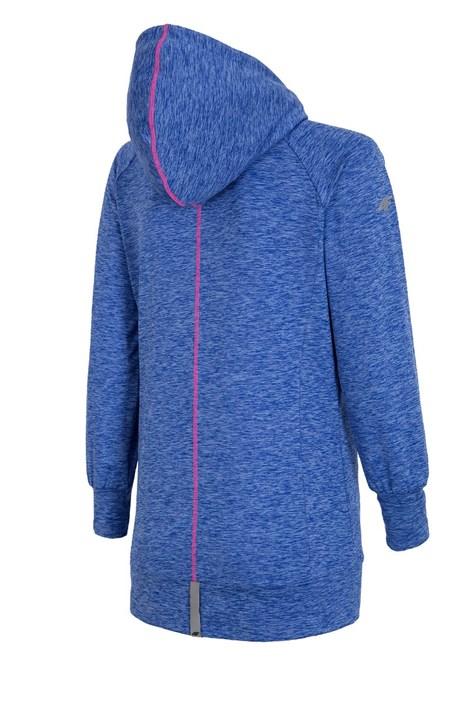 Damen Sport-Hoodie 4F Dry Control Blue melange