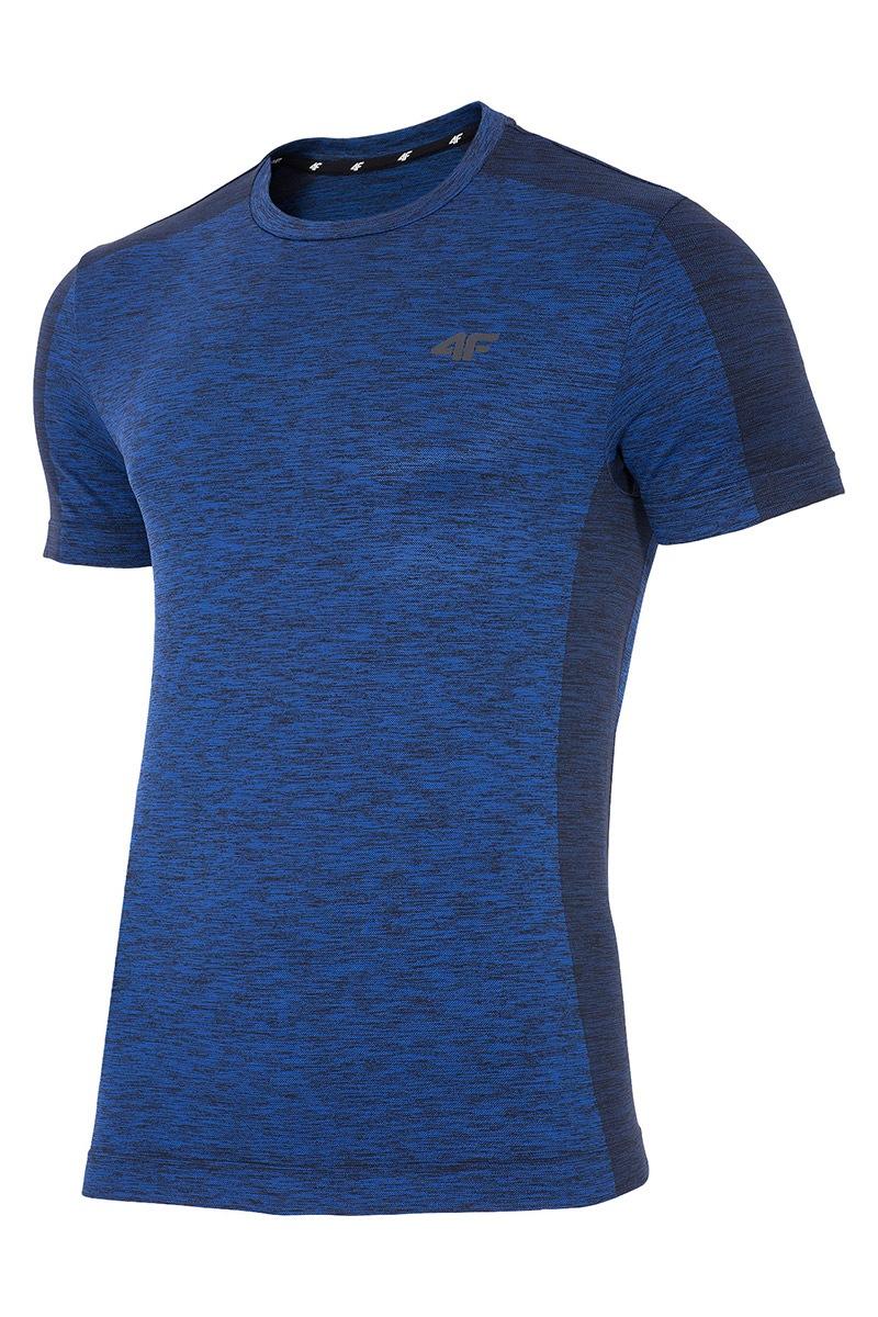herren funktions t shirt 4f dry control blue. Black Bedroom Furniture Sets. Home Design Ideas